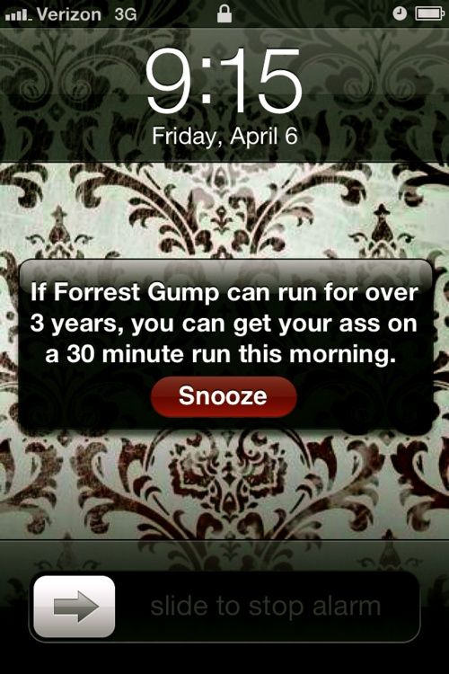 .. Tis trueForests, Fit, Forrestgump, Alarm Clocks, Forrest Gump, Funny, So True, Mornings, Running Motivation
