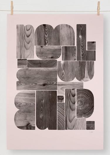 Wood grain poster print
