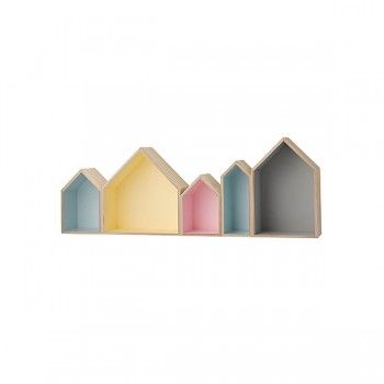 Coloured Box Birdhouse shelf