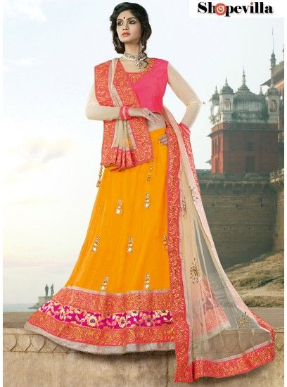 Yellow Colour Net Lehenga Choli-6909