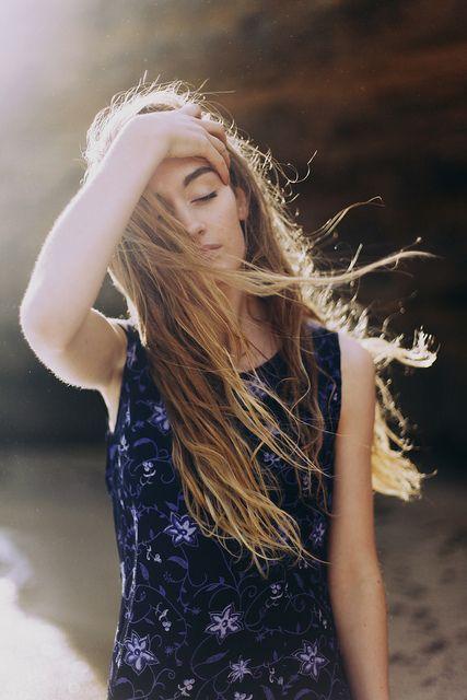blowing in wind