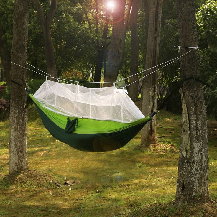 Sleeping Parachute Hammock Camping Outdoor 2-Person Portable Mosquito Net Hiking #SleepingParachuteHammock