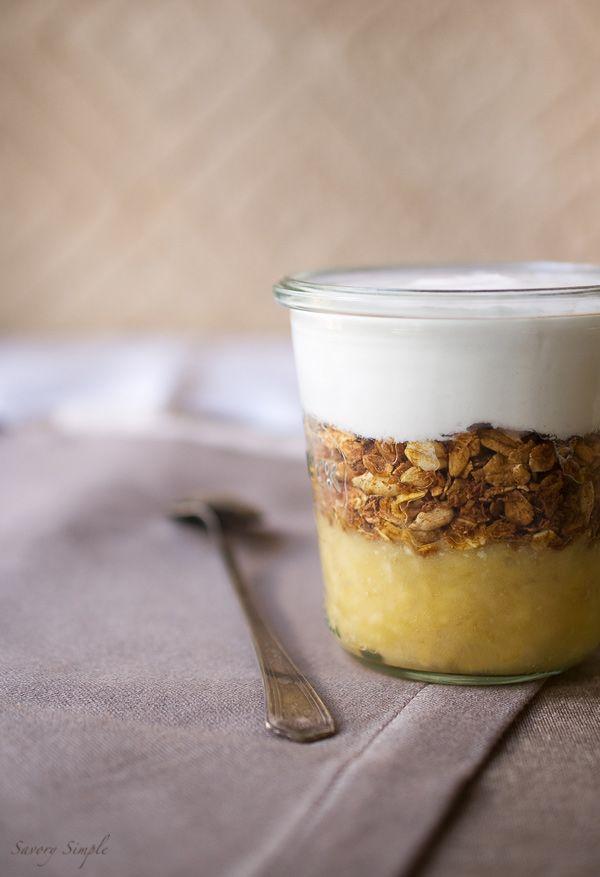 Banana Coconut Parfait - a light, healthy breakfast