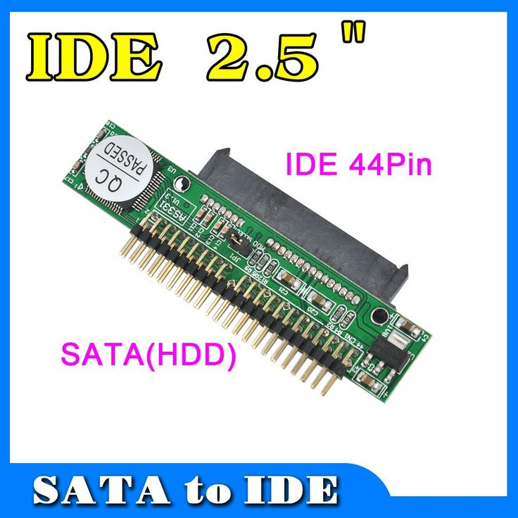 10Pcs/Lot Sata to IDE 2.5 Sata Female to 2.5 inch IDE Male 44 pin port 1.5Gbs Support ATA 133 100 HDD CD DVD Adapter Converter