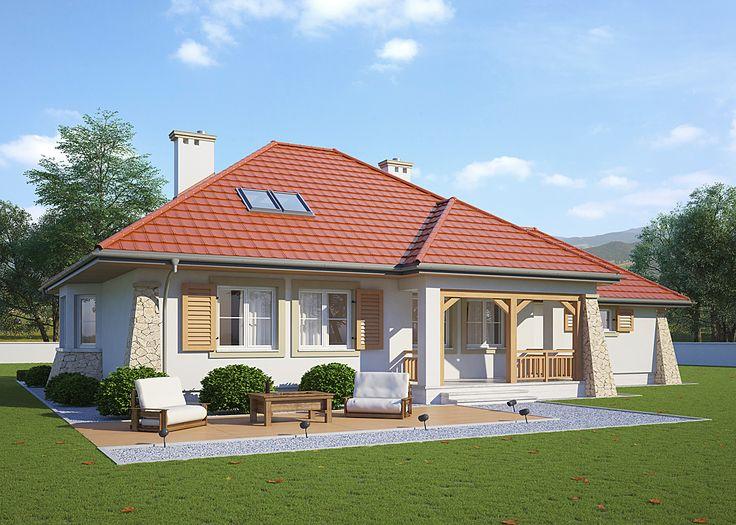 LK&447 parterowy dom jednorodzinny wg projektu pracowni LK&Projekt