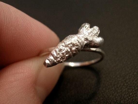 OneCarrot Ring in Sterling Silver by OddsAndEndsByKaley on Etsy, $28.00 #gardening: 28 00 Gardening, Sterling Silver, 34 00 Gardening, Onecarrot Ring