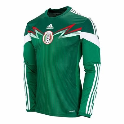 adidas Mexico 2014 L/S Home Jersey (Large and XL only)