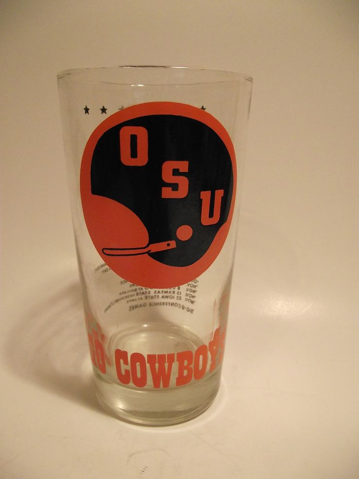 Vintage Oklahoma State University OSU Cowboys 1975 Football Schedule Drinking Glass by Witchway31 on Etsy https://www.etsy.com/listing/532441886/vintage-oklahoma-state-university-osu