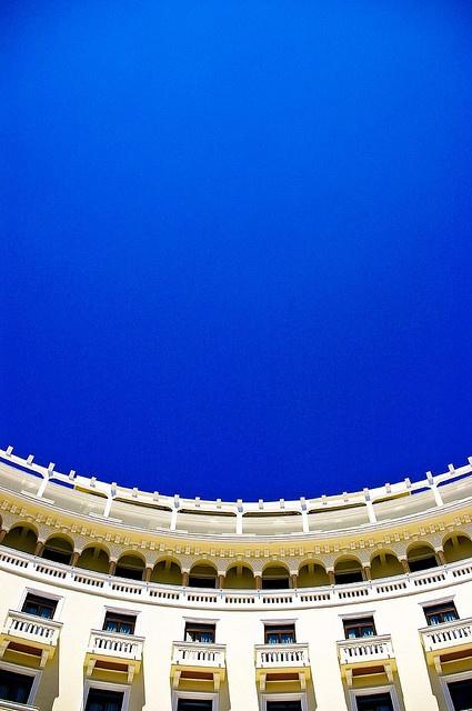 Blue curve - The Electra Palace Hotel, Thessaloniki, #Greece