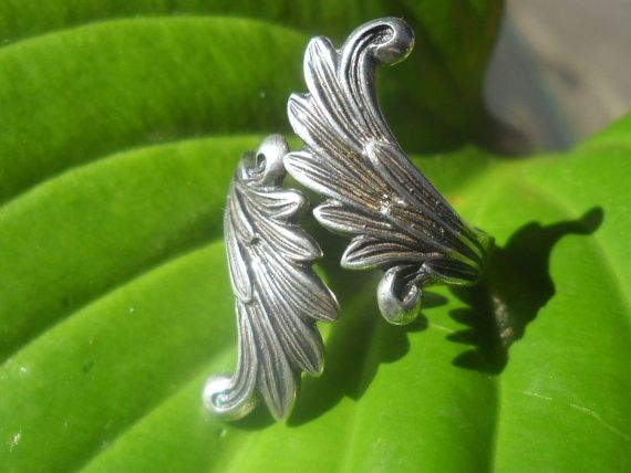 Sterling Angel Wings bypass ring by Jadelsjewelry on Etsy, $45.00