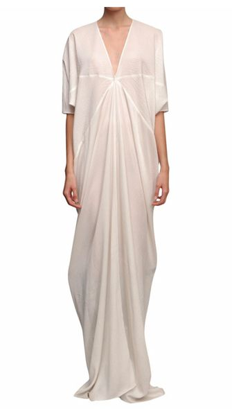 silk kite dress by Rick Owens. Imagine it with a sassy statement necklace. Yes!