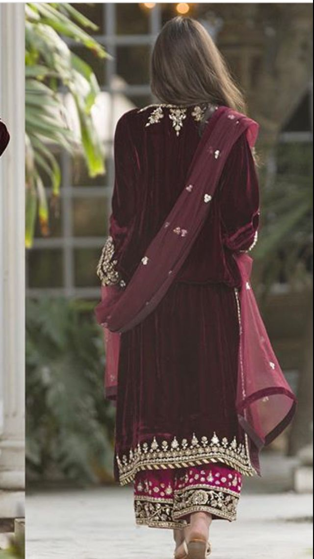 Maroon velvet wedding dress