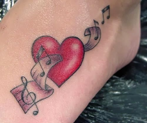 26 best Heart Music Tattoo Designs images on Pinterest | Music ...