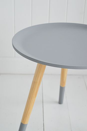 Grey Wooden Small Side Table