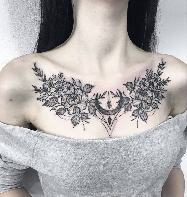 300 Beautiful Chest Tattoos For Women 2020 Girly Designs Piece Tattoo Ideas 2020 In 2020 Chest Tattoos For Women Chest Piece Tattoos Tattoos