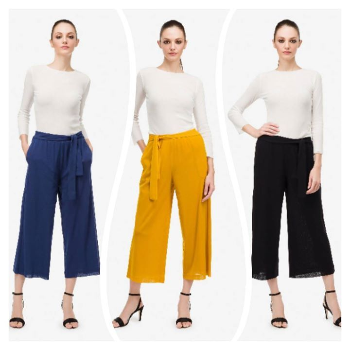 Gaucho  soldi pants choose your best color and create your outfit! Wear them with Gerald or with a pair of sneaker. You will be perfect! Official Europe online store www.fuzzishop.com; Official Usa & Canada online store www.fuzzishop.us #DreamyWear4RealLife #fuzzi # fuzzishop #fashion #instafashion #fashiongram #picoftheday #outfit  #outfitoftheday