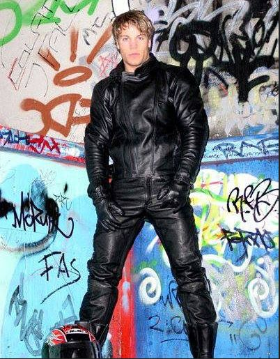 Erotic leather man story wearing