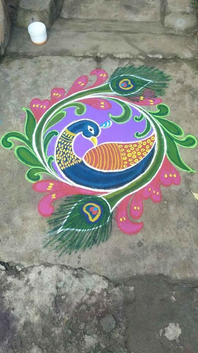 try this in your home Rangoli border designs, Simple