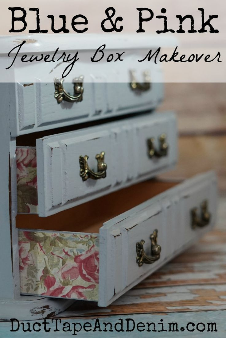 767 best oh so clever images on pinterest for Old jewelry box makeover