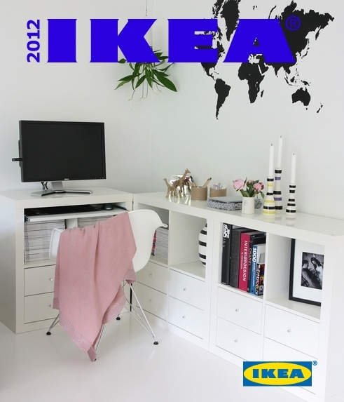 IKEA - Expedit + drawer inserts + keyboard drawer - Nice and neat!