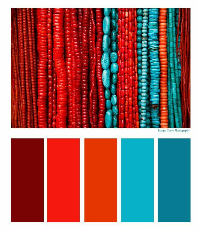 Blue Coral Red Palette
