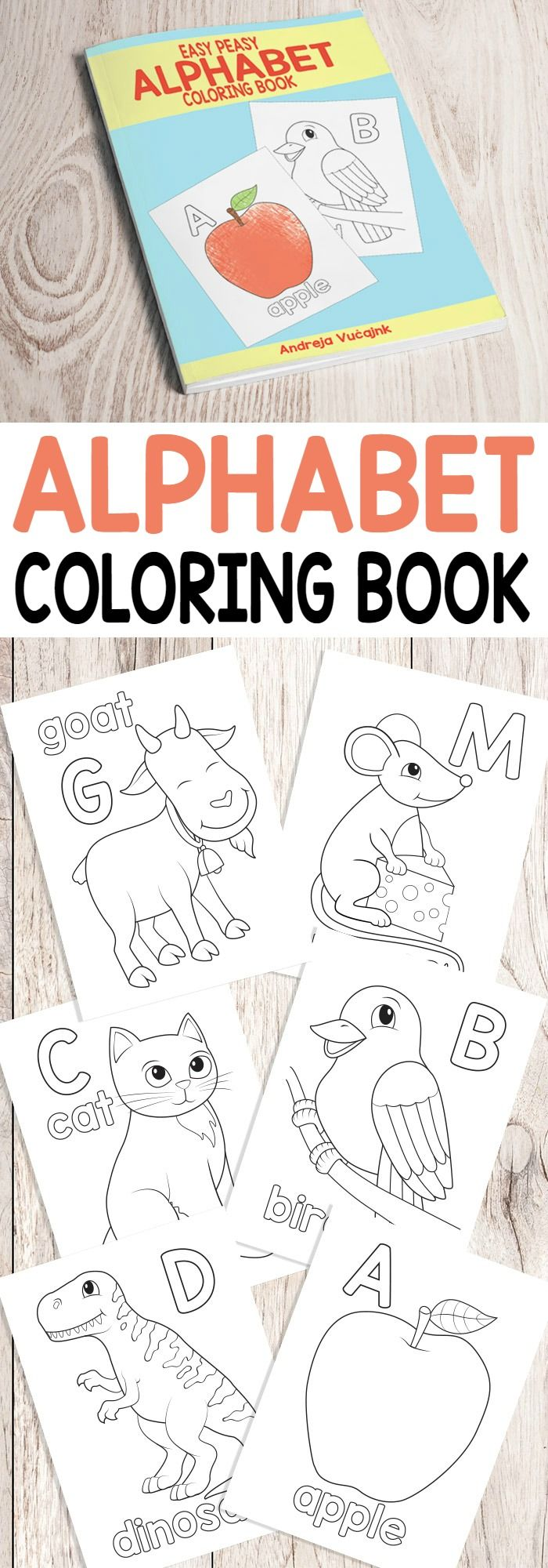 Alphabet coloring pages printable - Easy Peasy Alphabet Coloring Book Abc Coloring Pages