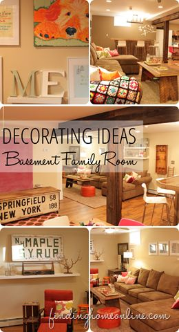 Decorating Ideas: Basement Family Room from Finding Home (findinghomonline.com)