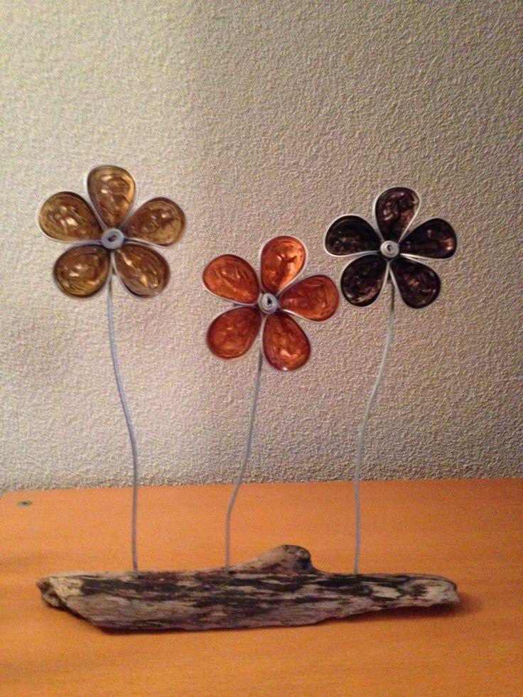 Blumen aus Nespressokapseln