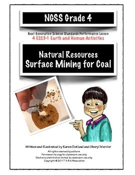 Natural Resources: Surface Mining for Coal NGSS 4 ESS3-1: Earth and Human Activities Written and Illustrated by Karen Ostlund and Sheryl Mercier In this series of activities/assessments students simulate mining coal using chocolate chip cookies. Students' prior