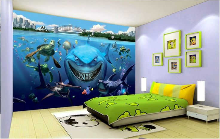 25 best ideas about 3d wall painting on pinterest for Aquarium decoration paint