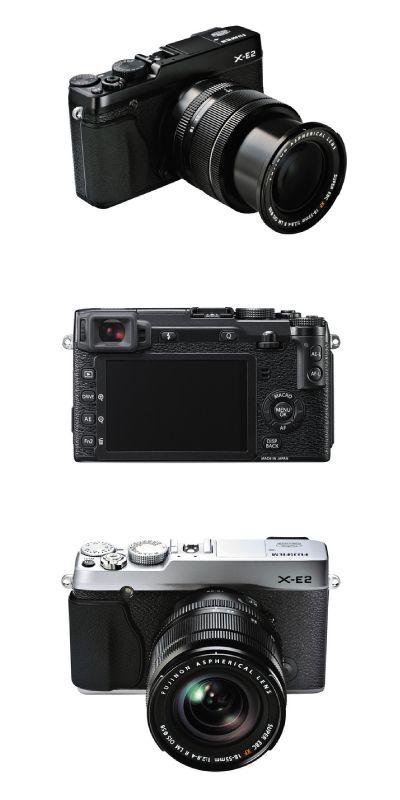 Fotoaparat Fujifilm X-E2 v kompletu z objektivom Fujinon XF18-55 F2.8-4 R LM OIS (35mm ekv. 27-84mm).  Specifikacije fotoaparata si lahko ogledate na http://pikselmarket.si/digitalni-fotoaparat-Fujifilm-X-E2-objektiv-18-55  #fujifilm #xe2 #fujilens