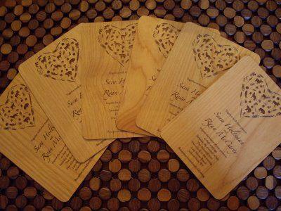 160 best wedding menus and invites inspiration images on pinterest blog laser engraved wedding invitations stopboris Image collections