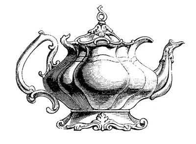 Vintage Clip Art - Best Teapot Ever! - The Graphics Fairy