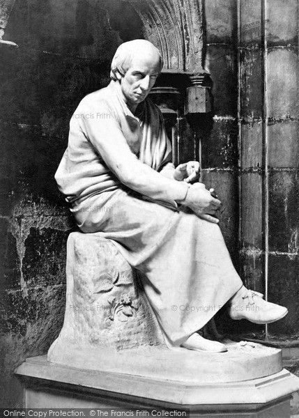 Wordsworth's memorial statue in Westminster Abbey (ref 3519) taken c1867.