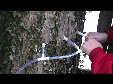 How to tap your maple tree in 15 mins using $15 worth of supplies from your local hardware store.    (AFTER MORE RESEARCH I'D RECOMMEND LIMITING TAPS TO 2 MAX, and SMALLER AT THAT)