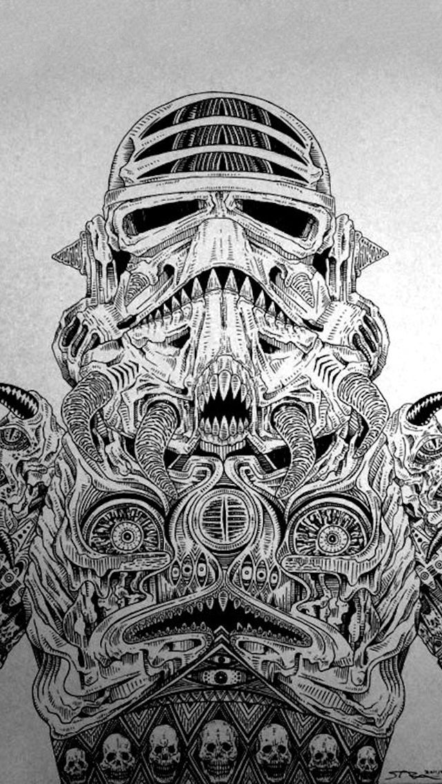 Alien stormtrooper iPhone 5 wallpaper samsung galaxy S advance tok tokok, http://galaxytokok-infinity.hu