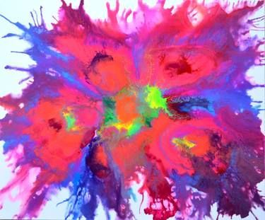 """Saatchi Art Artist Soos Tiberiu; Painting, """"Peacock Tail - 120x100 cm - Large Abstract, Big Painting - Ready to Hang, Office, Hotel, Restaurant Wall Decor"""" #art"""