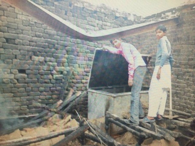 These Muslims going to hell.... A Christian man's refusal to sell his home in Pakistan prompted Muslim arsonists to burn down the property while everyone inside slept.