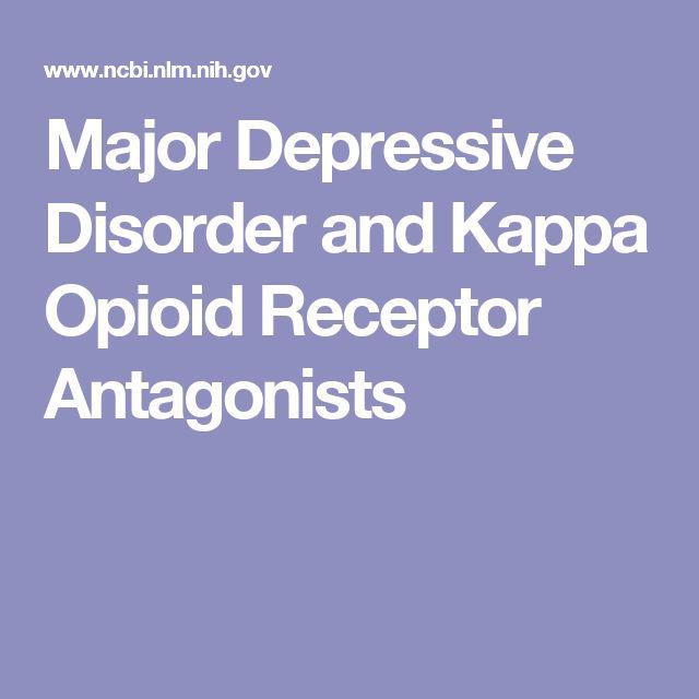 Major Depressive Disorder and Kappa Opioid Receptor Antagonists