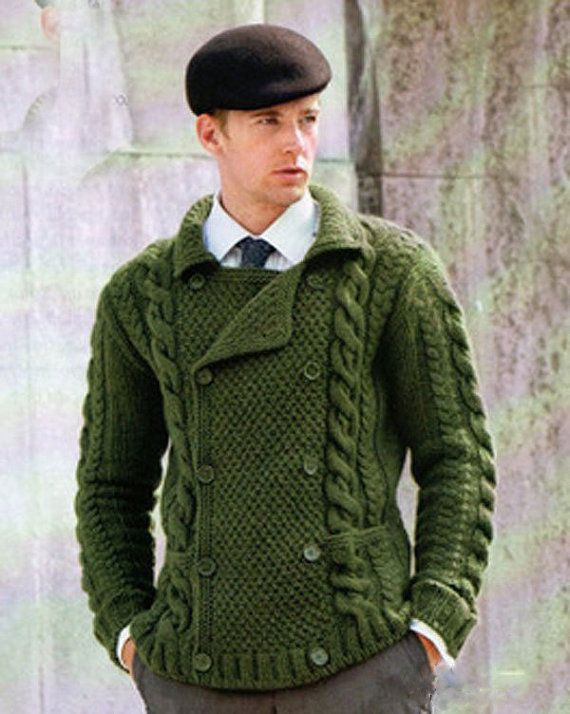 MADE TO ORDER men's sweater hand knitted men sweater cardigan pullover men clothing handmade
