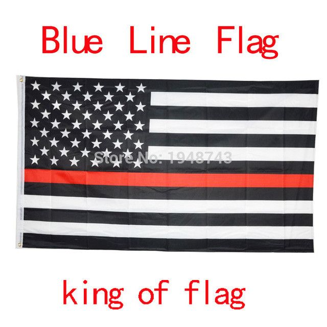 Blue Line Police Flags 3x5ft