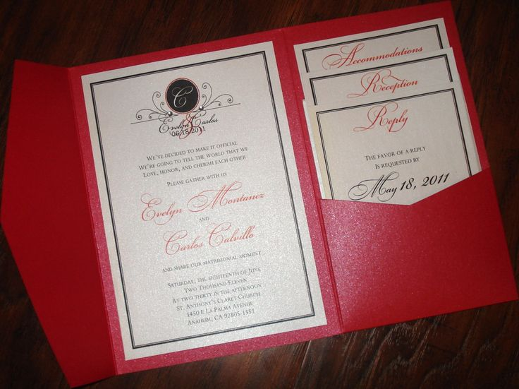 Superb Love Series   Pocketfold Wedding Invitation