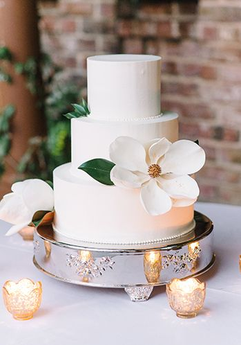 A Magnolia cake by PPHG pastry chef Jessica Grossman | The William Aiken House in Charleston, South Carolina | Photo by Aaron and Jillian