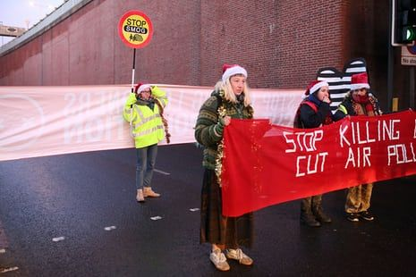 'We don't have time to wait and see': air pollution protesters resort to direct action