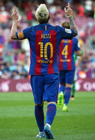 Leo Messi during La Liga match between FC Barcelona v Betis in Barcelona on August 20 2016