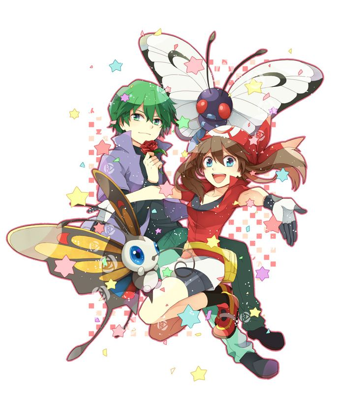 May and Drew with Beautifly and Butterfree. I ship these two.
