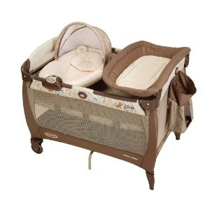 The newborn napper (on the left) of the pack n play is also a great transitional napper for newborns, especially those with reflux.