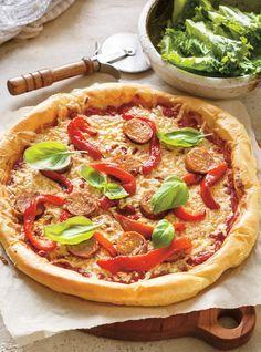 Sur le site de Ricardo : recette de pizza sans lactose, sans gluten et sans protéines bovines (on a remplacé le fromage par le substitut sans produits laitiers ni gluten de l'entreprise Daiya).