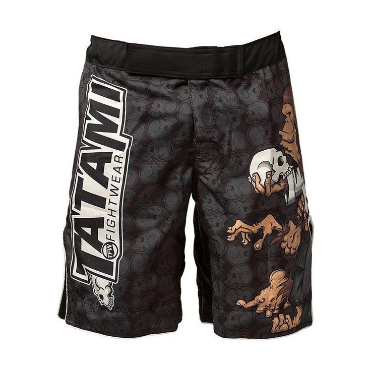 MMA Short Black Cartoon Orangutan Boxing Training Pants Breathable Sports MMA Tiger Muay Thai Boxing Shorts Kickboxing MMA shorts