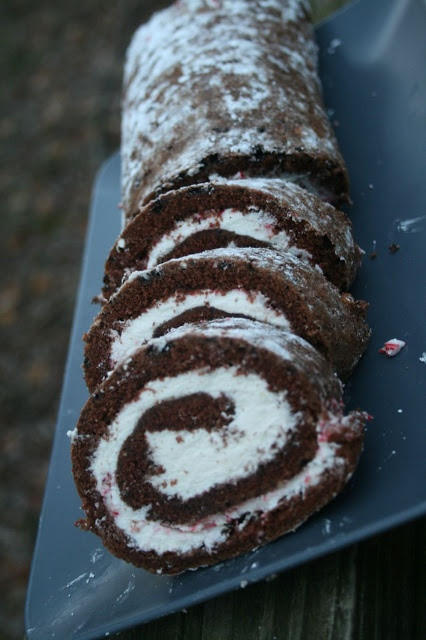 Recipe Shoebox: Holiday Baking #7: Chocolate-Peppermint Cake Roll